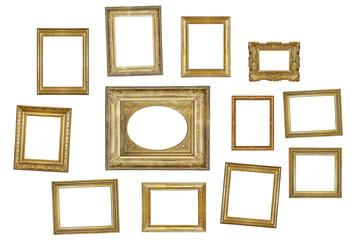 many gilded frames