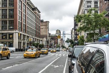 New York City Taxi Streets USA Big Apple Skyline comuter