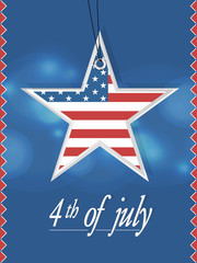 creative vector abstract or background for 4th of July, creative vector design illustration.
