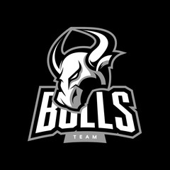 Furious bull sport vector logo