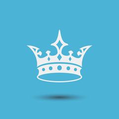Royal vector illustration. Crown Icon.
