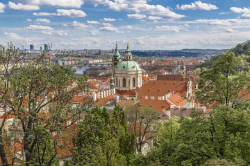 Wall Mural - View from the old royal palace in Prague