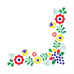 Colorful folklore ornament isolated on a white background, vecto