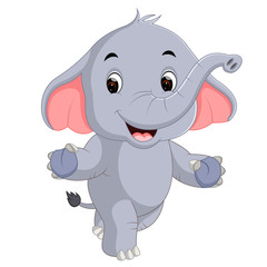 cute elephants cartoon