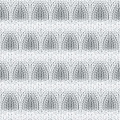 Repeating volume braided knitting background