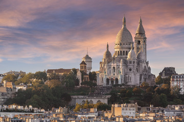 Fototapete - La Basilique du Sacré Cœur de Montmartre