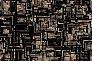 Wide repeating abstract high tech background