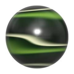 Striped  oval gem  cabochon - 3D illustration