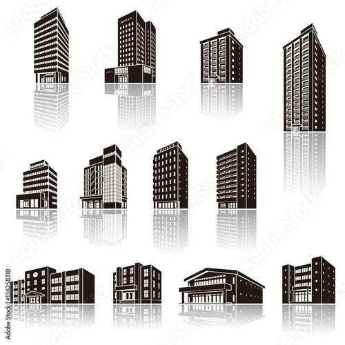 建物の影のイラスト 立体図形fotoliacom の ストック画像と