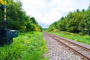 延々と続く北海道の線路