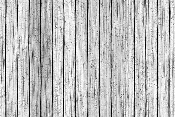 Continuous batten white wooden pattern