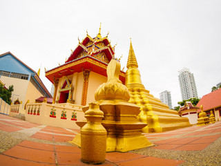 Thai temple or Wat Chaiyamangalaram Penang Malaysia
