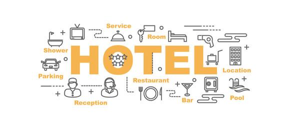 hotel vector banner