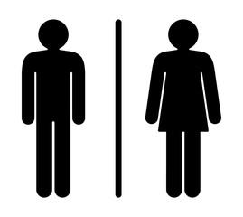 Modern Stylized Vector Illustration Of A Restroom Sign