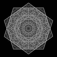Fractal vector  decagon