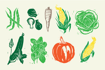 Woodcut Farm Vegetable Collection