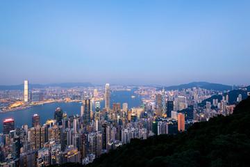Hong Kong Skyline at Night..