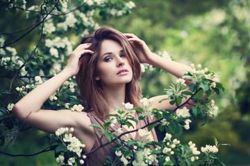 Healthy Woman in Spring. Beauty Portrait