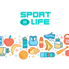 Sports icons. Sport concept, background.