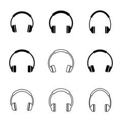 headphones icons set,vector Illustration EPS10