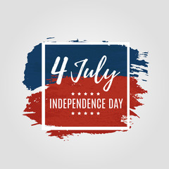Card of 4th of july Independence Day celebrations lettering. Vector illustration. EPS 10