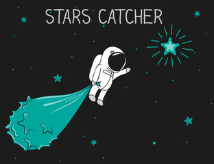 astronaut catch the stars