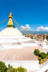 Boudhanath Stupa Aerial View High