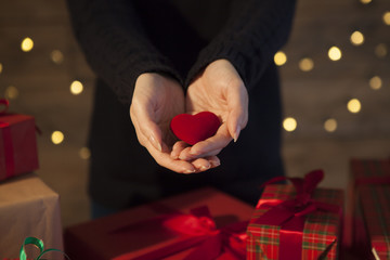The woman received a lot of gifts and love