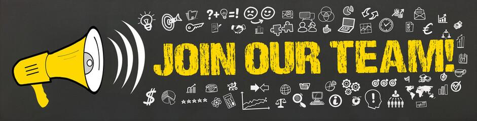 Join our Team! / Megafon mit Symbole