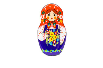 Souvenir fridge magnet - Russian beauty girl in traditional clothes