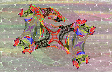 Fun colorful abstract baby horse
