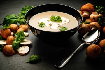 champignon creme suppe
