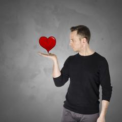 Ragazzo con il cuore in mano