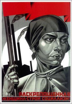 propaganda posters of Lenin and Stalin-era Soviet Union