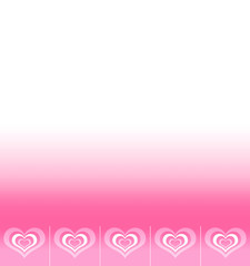 Background with space for text with pattern of abstract hearts