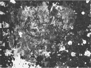 Grunge halftone background. Black and white vector background