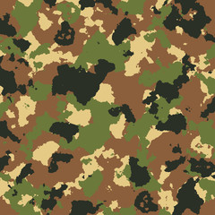 vector military camouflage pattern in green and brown colors
