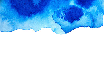 Blue abstract background in watercolor style