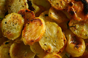 homemade fried potatoes chips