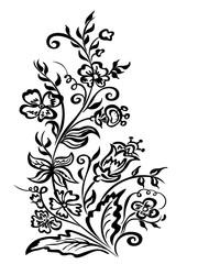 Design flowers ornamental floral bouquet