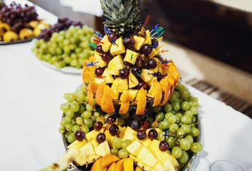 excellent color dessert with fruit