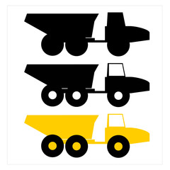 Articulated Truck Icon From Side