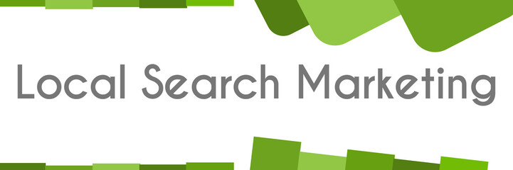 Local Search Marketing Green Abstract Background