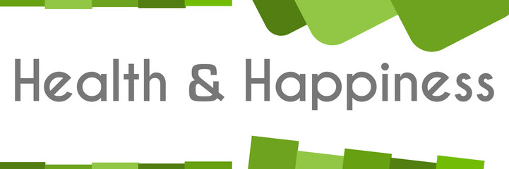 Health And Happiness Green Abstract Background