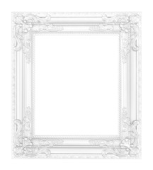 antique white frame isolated