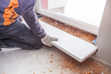 Monter mounted the window sill inner below the window