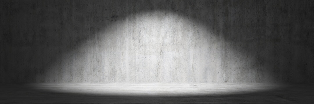 Concrete background with spotlight