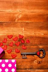 set of little valentine decorative heart