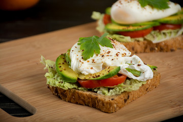 Healthy sandwiches for the breakfast