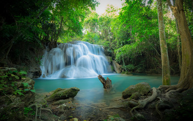 Waterfall in the forest at Huay Mae Kamin waterfall National Par